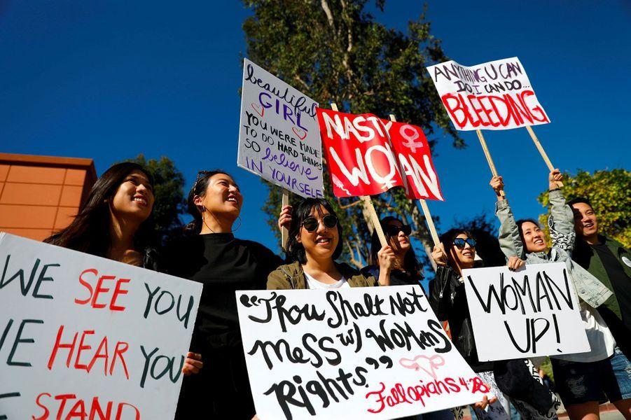 A la Women's March (la «Marche des Femmes») de Los Angeles, le 20 janvier 2018.