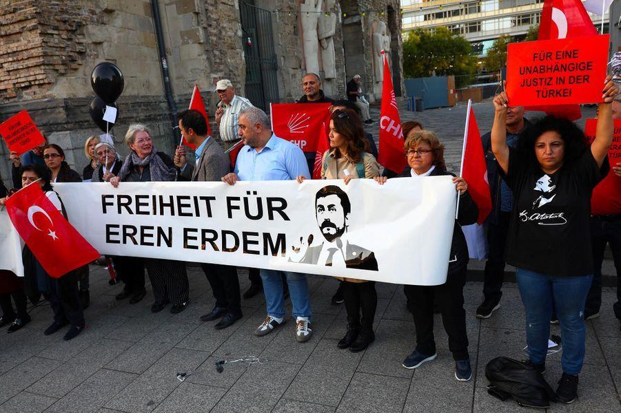 Manifestation de défense de la démocratie en Turquie, à Berlin, le 27 septembre 2018.
