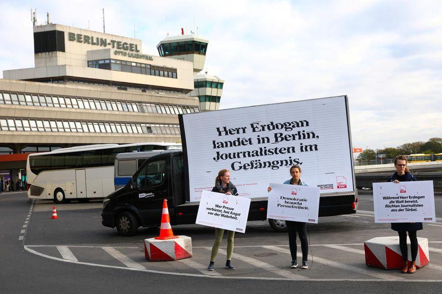 Manifestation en soutien aux journalistes emprisonnés en Turquie, à Berlin, le 27 septembre 2018.