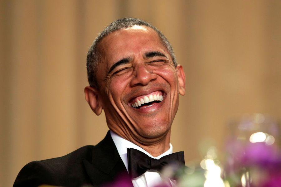 Barack Obama au dîner des Correspondants à la Maison Blanche, le 30 avril 2016 à Washington.