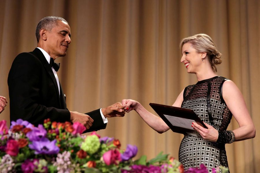 Barack Obama et Carol Lee au dîner des Correspondants à la Maison Blanche, le 30 avril 2016 à Washington.