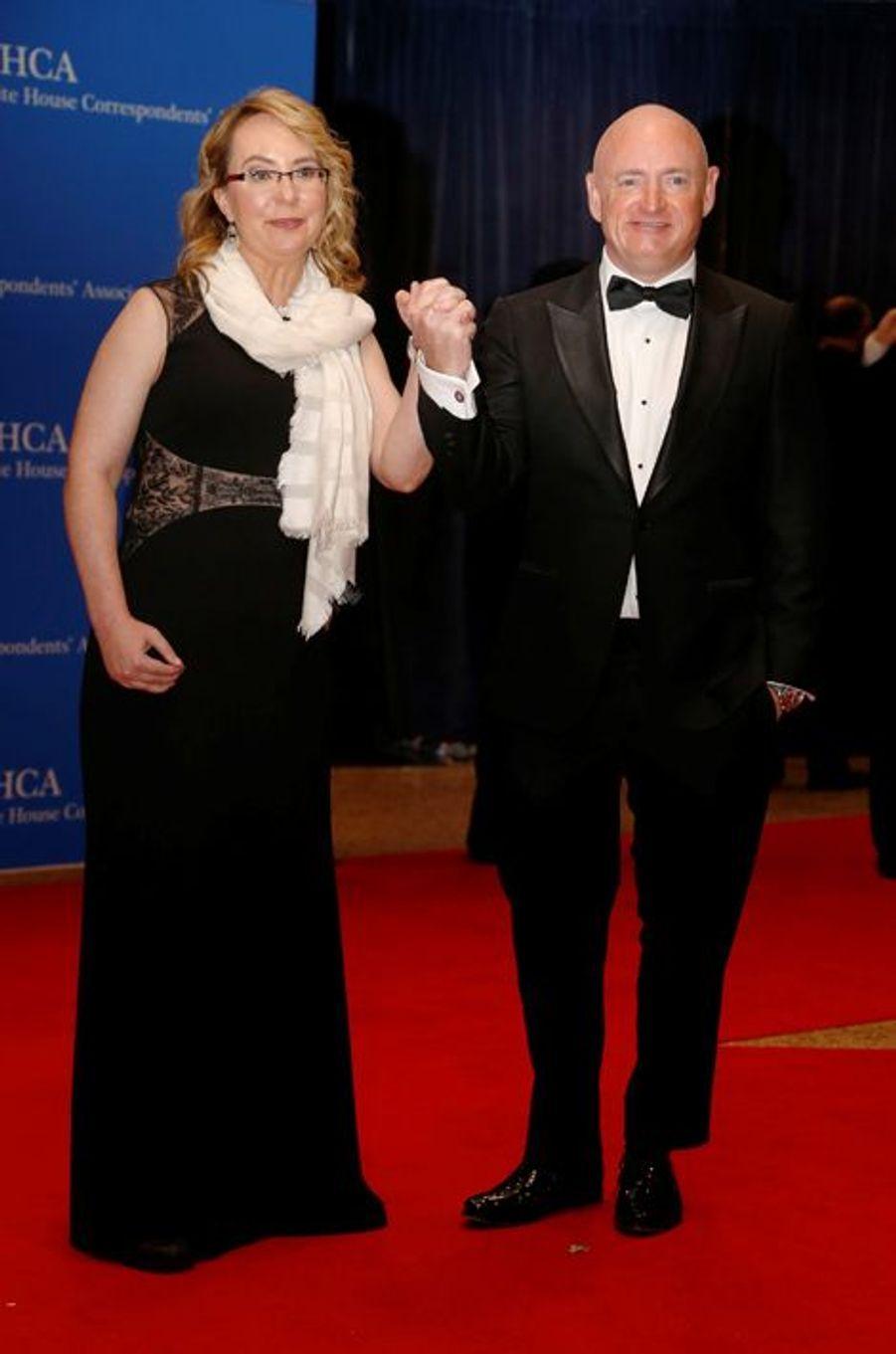 Gabrielle Giffords et Mark Kelly au dîner des Correspondants à la Maison Blanche, le 30 avril 2016 à Washington.