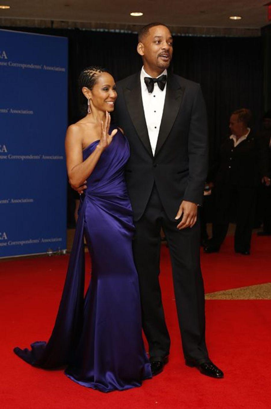 Jada Pinkett-Smith et Will Smith au dîner des Correspondants à la Maison Blanche, le 30 avril 2016 à Washington.