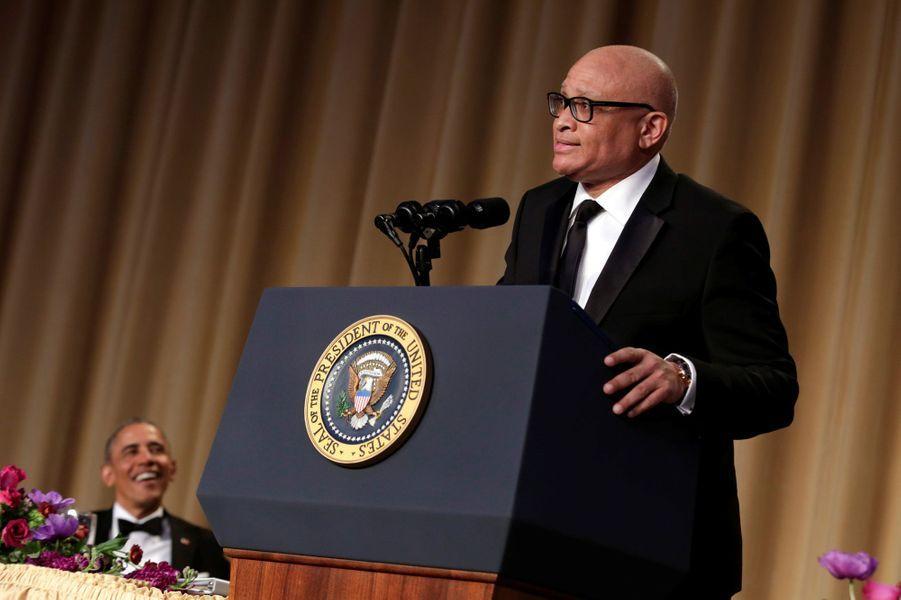Larry Wilmore au dîner des Correspondants à la Maison Blanche, le 30 avril 2016 à Washington.