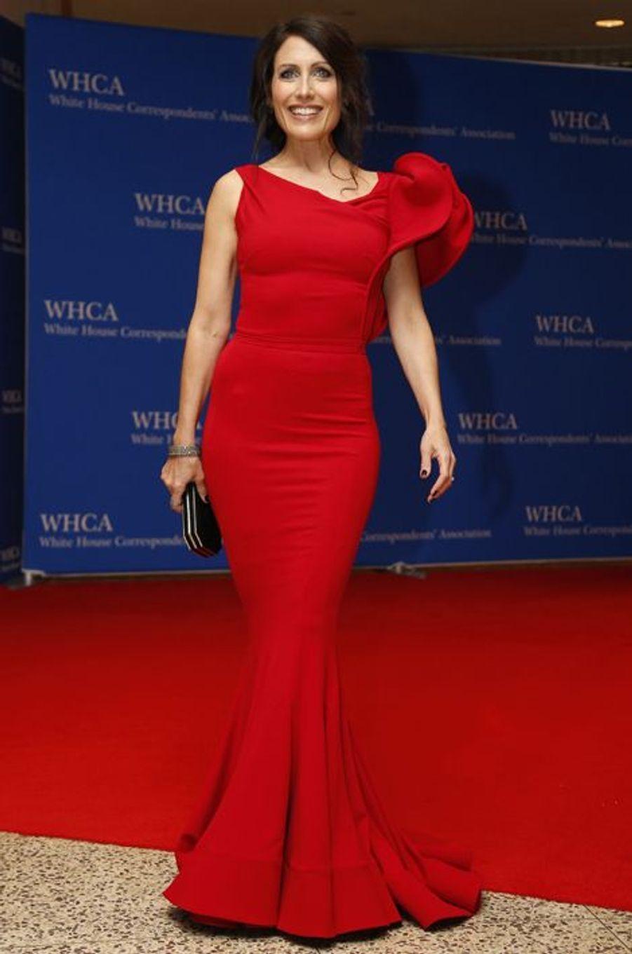Lisa Edelstein au dîner des Correspondants à la Maison Blanche, le 30 avril 2016 à Washington.