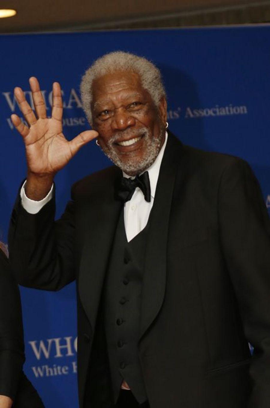 Morgan Freeman au dîner des Correspondants à la Maison Blanche, le 30 avril 2016 à Washington.