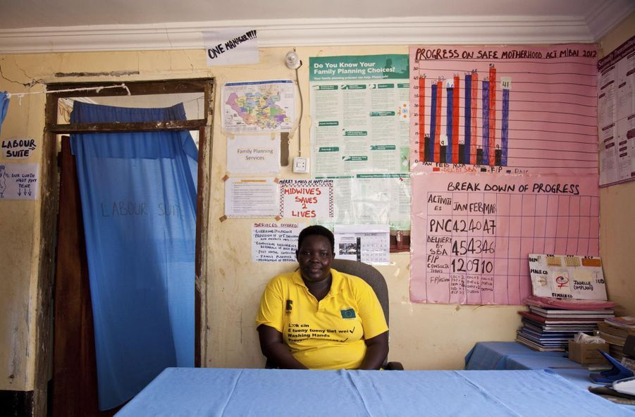 Judith Aweko Taban, une sage-femme du Centre de santé de Malualbai (juillet 2012)