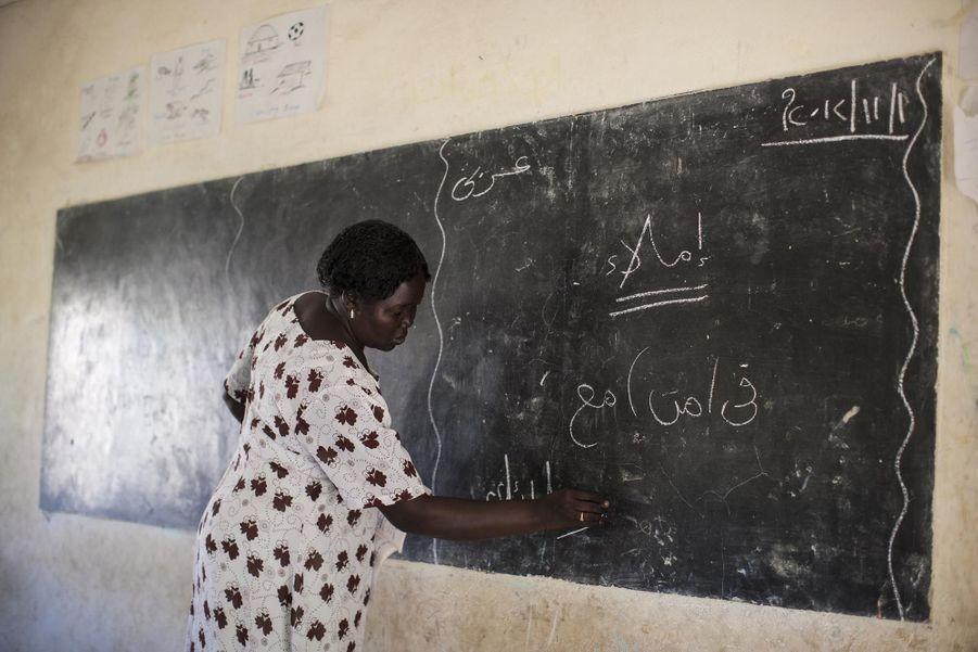 Une institutrice de Juba (novembre 2012)