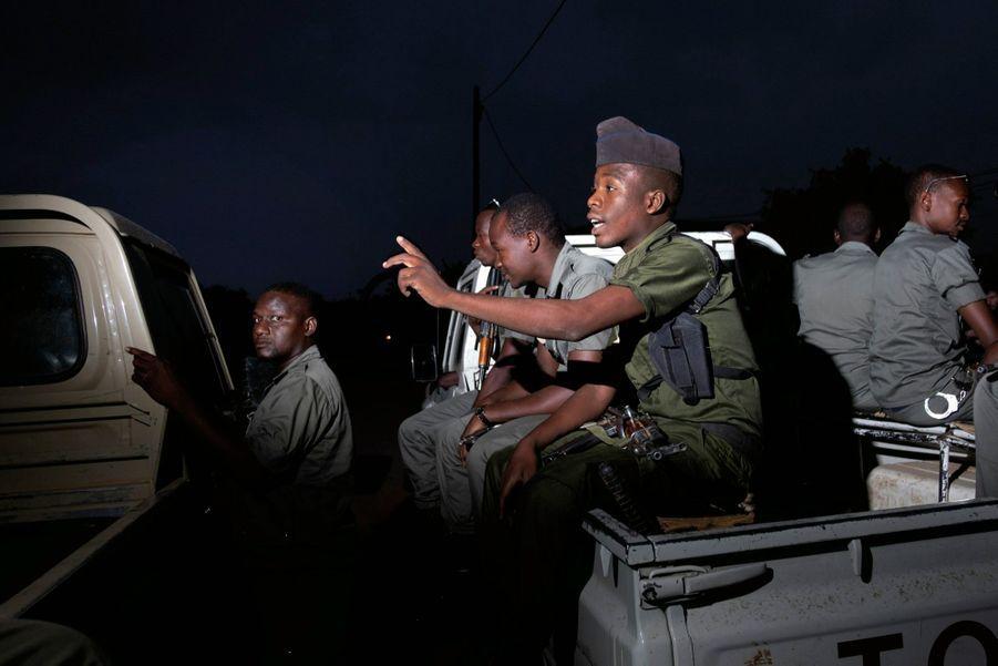 Une des patrouilles mixtes de police, de gendarmerie et de la garde nationale du Niger.