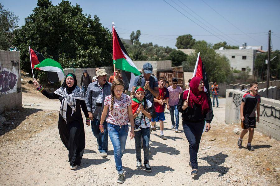 Une manifestation à Nabi Saleh.