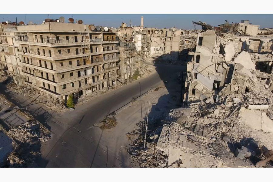 La ville d'Alep, en Syrie, vue du ciel.