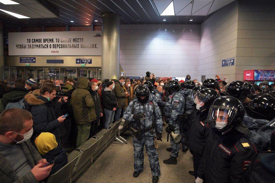 A l'aéroport de Moscou.