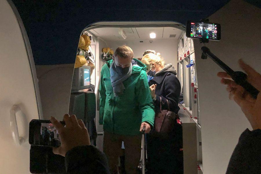 Arrivée du couple Navalny à Moscou.