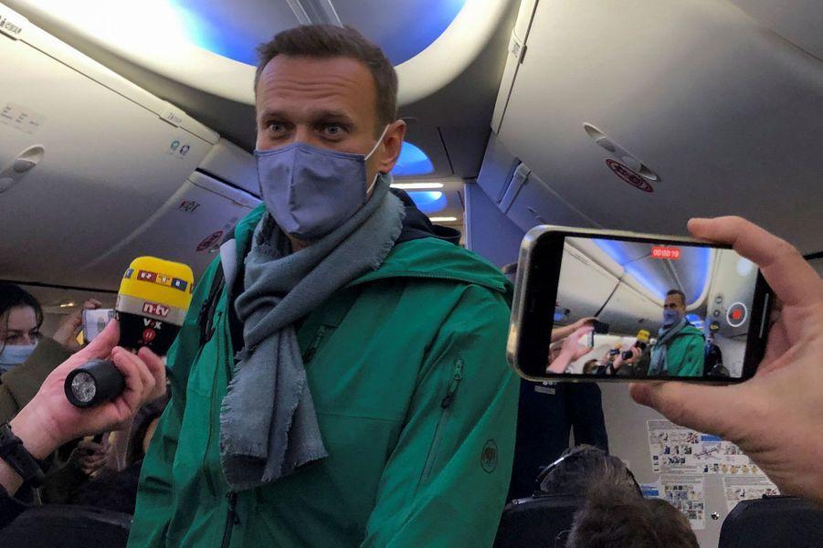 Alexeï Navalny a quitté l'Allemagne pour la Russie, le 17 janvier 2021.