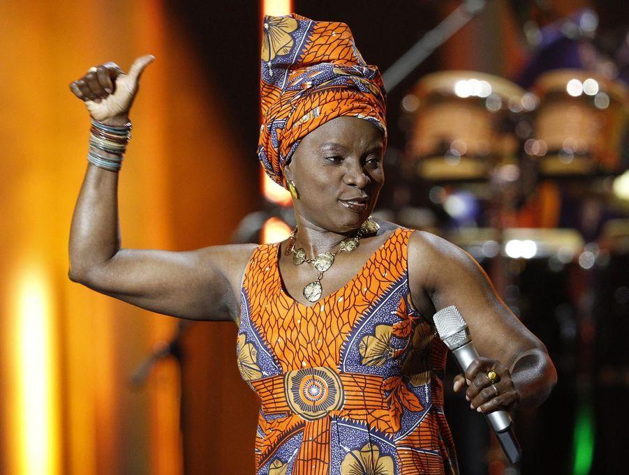Angelique Kidjo au concert du Prix Nobel de la Paix à Oslo en décembre 2011