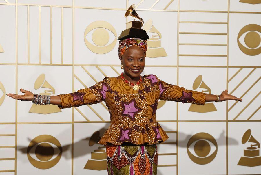 Angélique Kidjo aux derniers Grammy Awards en février 2016