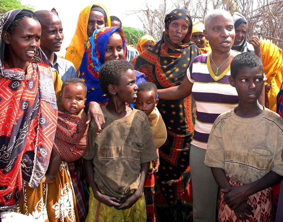 Angelique Kidjo en campagne au Kenya pour l'Unicef en 2006
