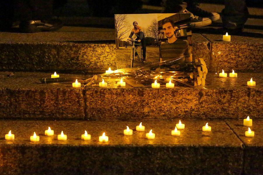 Le rassemblement en hommage aux victimes de l'attaque de New York, mercredi àFoley Square