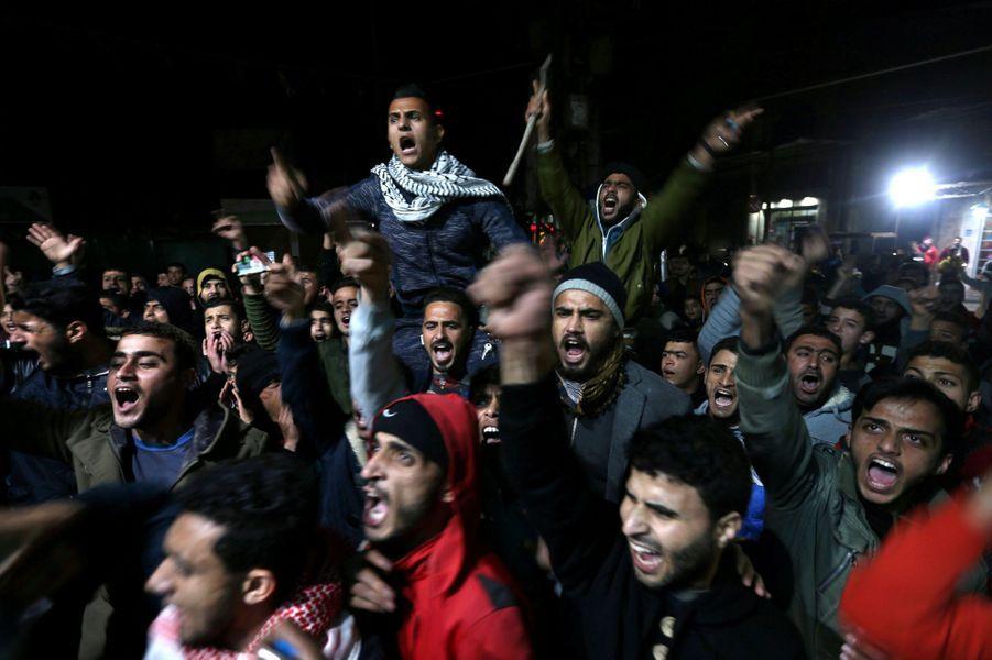 Manifestation à Gaza, le 6 décembre 2017.