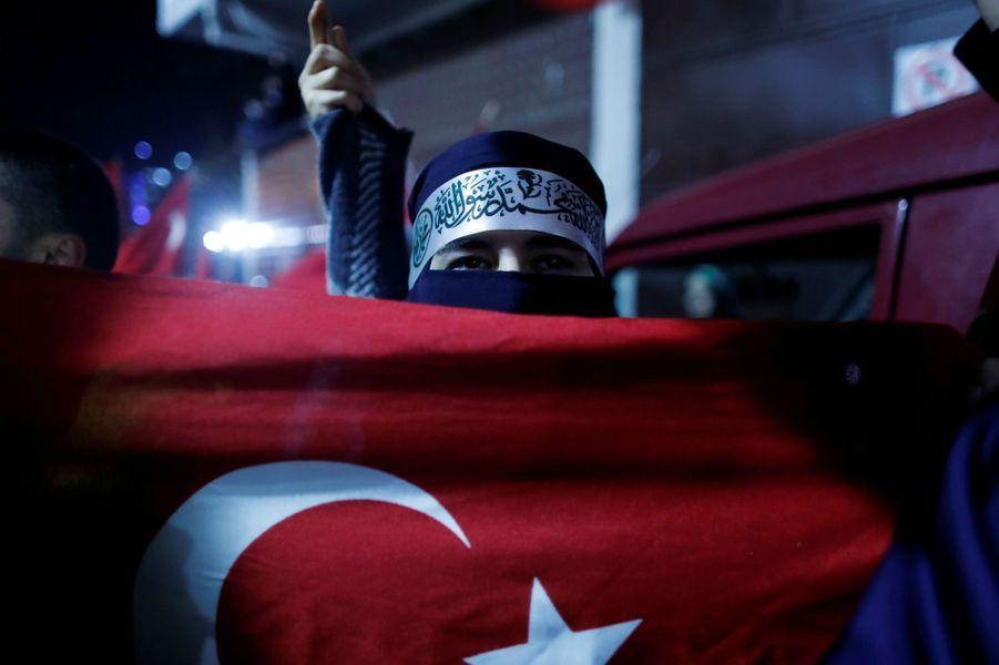 Manifestation à Istanbul, en Turquie, le 6 décembre 2017.