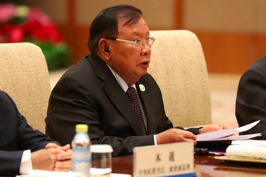 Le président laotien Boungnang Vorachit, 81 ans.