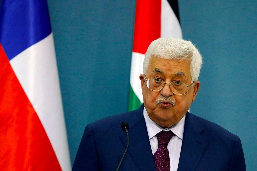 Le président de l'Autorité palestinienne Mahmoud Abbas, 83 ans.