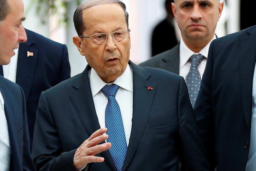 Le président libanaisMichel Aoun, 84 ans.