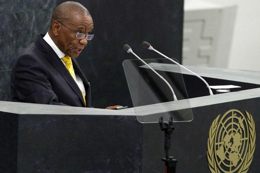 Le Premier ministre du Lesotho, Tom Thabane, 80 ans.