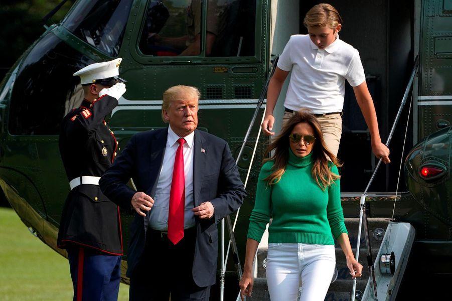 Donald et Melania Trump rentrent à la Maison-Blanche, le 19 août 2018.