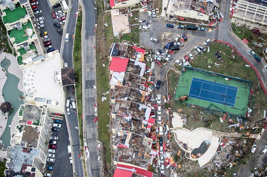 Philipsburg après le passage d'Irma.