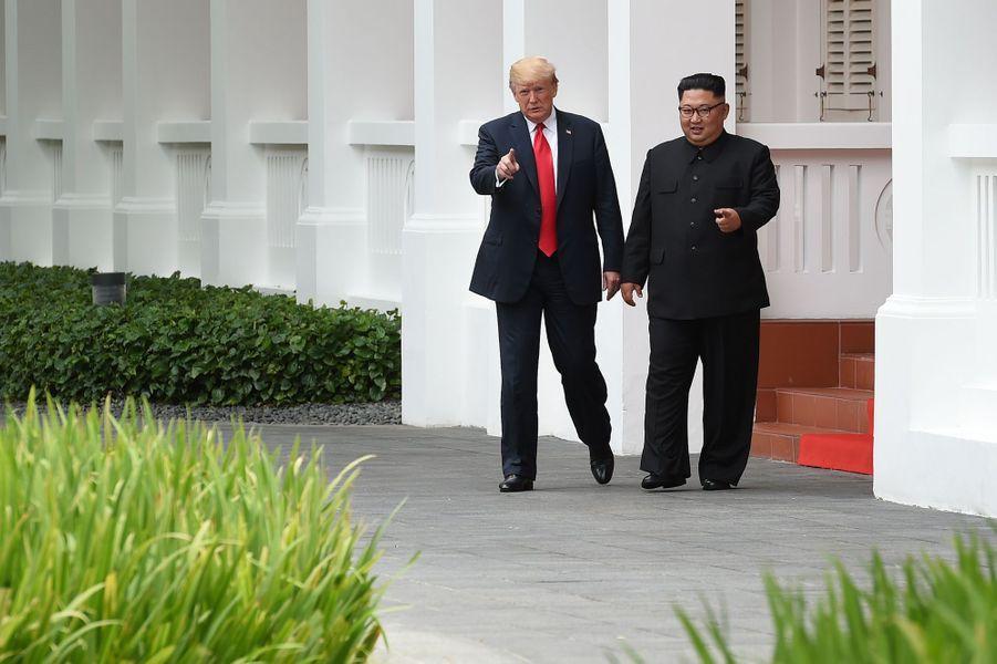 Donald Trump et Kim Jong-un à Singapour, le 12 juin 2018.