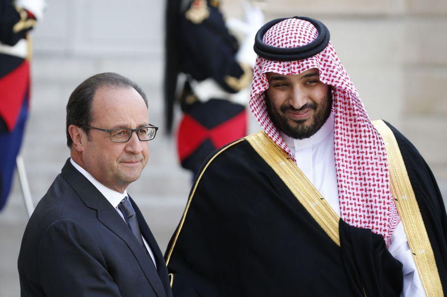 François Hollande etle prince Mohammed ben Salmane, en juin 2015.