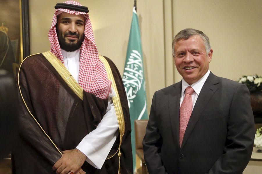Le prince Mohammed ben Salmane et le roi Abdallah de Jordanie, en août 2015.
