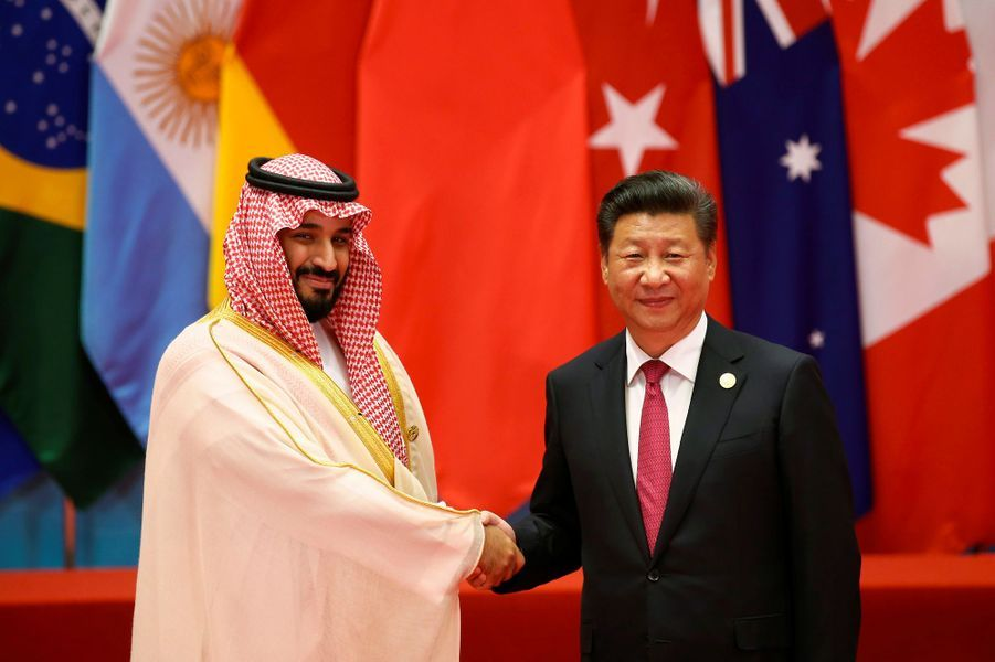 Le prince Mohammed ben Salmane et le président chinois Xi Jinping, en septembre 2016.