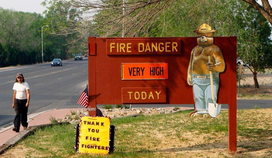 Panneau à l'entrée de Springerville, Arizona.