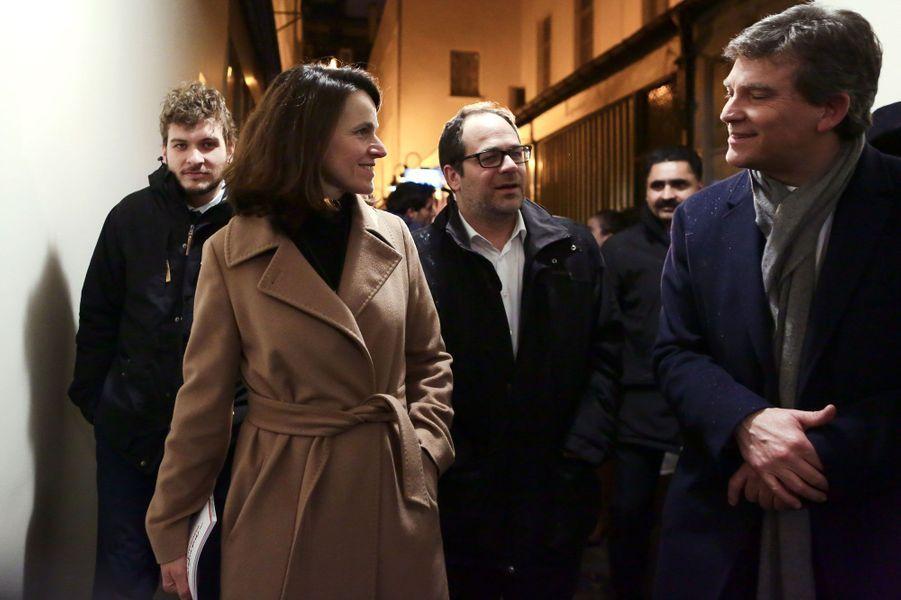 Arnaud Montebourg et Aurélie Filippettià la Maison de la Poésie à Paris.