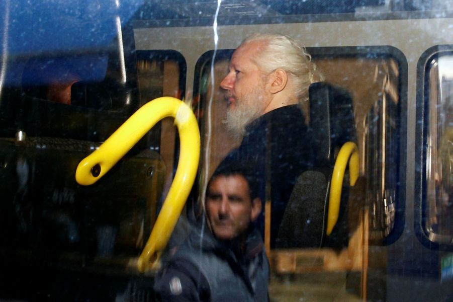 Julian Assange à Londres, le 11 avril 2019.