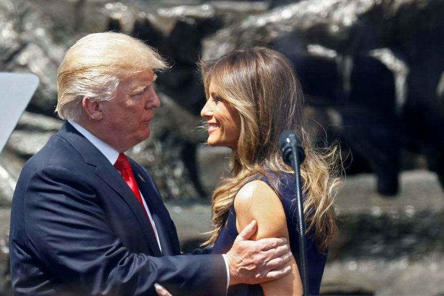 Donald et Melania Trump à Varsovie, le 6 juillet 2017.