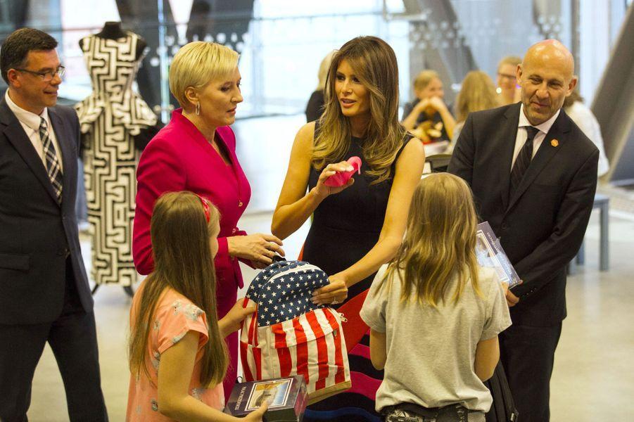 Melania Trump à Varsovie, le 6 juillet 2017.