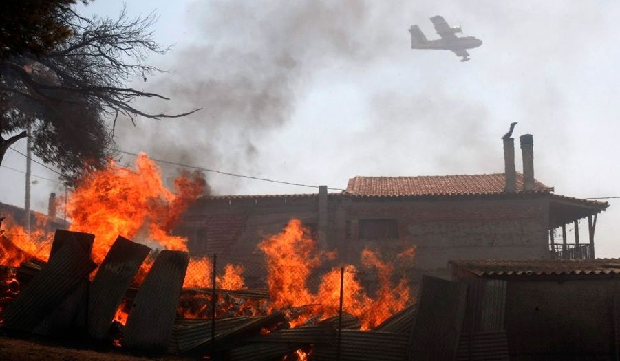 Ici à noueavu à Dioni, ou plusieurs habitations ont été touchées.