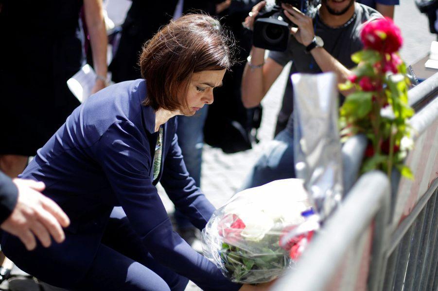 Laura Boldrini, présidente de la chambre des députés italienne, rend hommage aux victimes à Rome