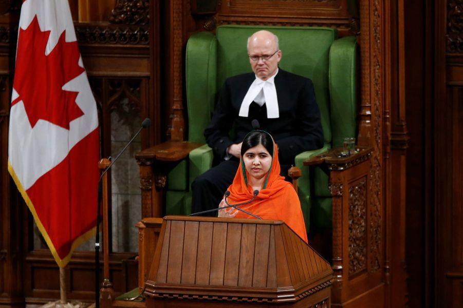 Malala Yousafzai à Ottawa, le 12 avril 2017.