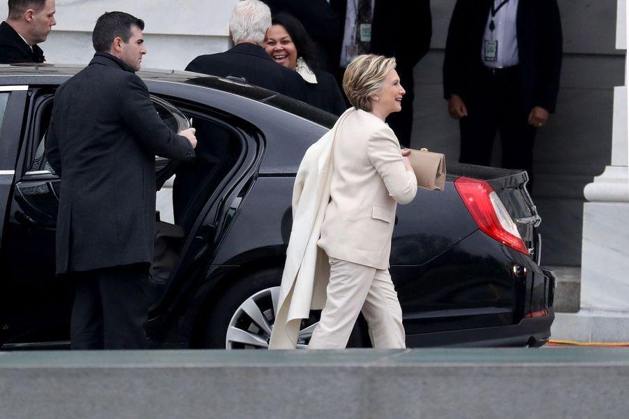 Hillary Clintonà l'investiture de Donald Trump, le 20 janvier 2017.
