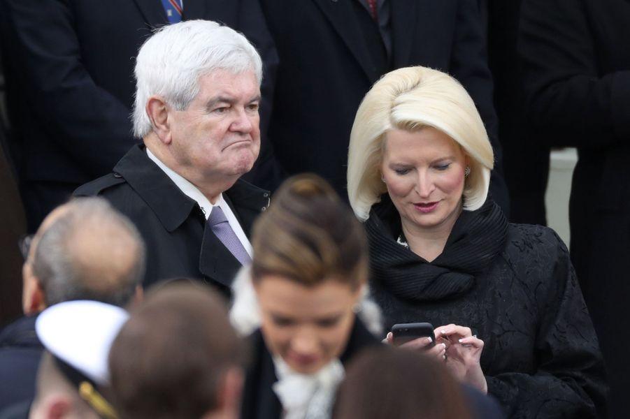 Newt Gingrichà l'investiture de Donald Trump, le 20 janvier 2017.