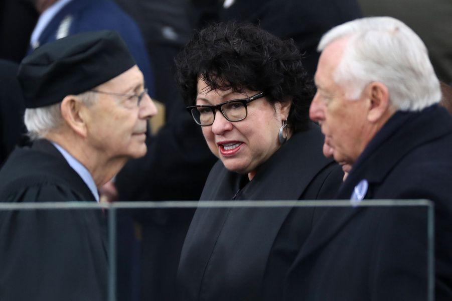La juge de la Cour suprême Sonia Sotomayor à l'investiture de Donald Trump, le 20 janvier 2017.