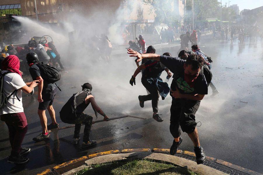Manifestation à Santiago, au Chili, le 21 octobre 2019.