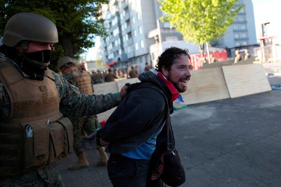 Manifestation à Concepción, au Chili, le 21 octobre 2019.