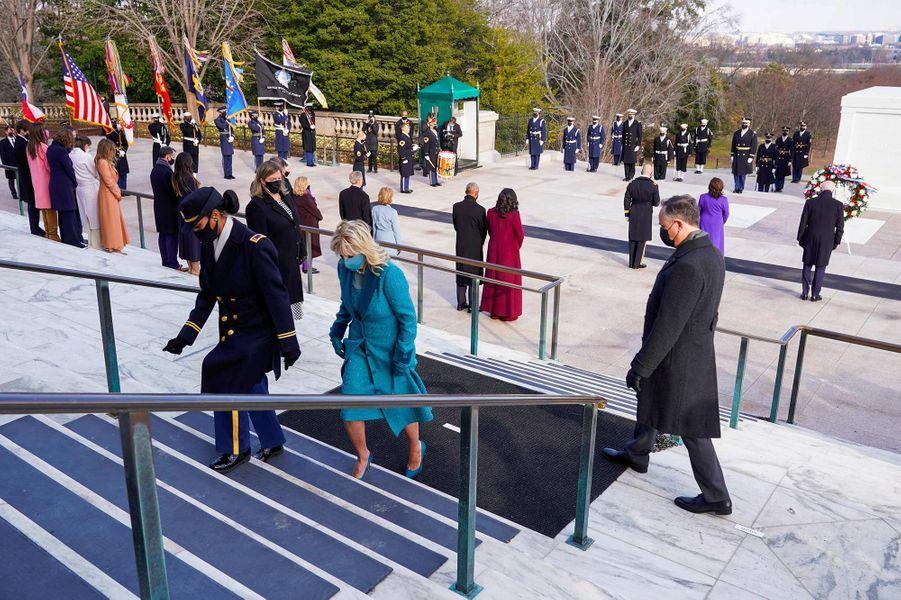 Jill Bidenau cimetière national d'Arlington, le 20 janvier 2021.