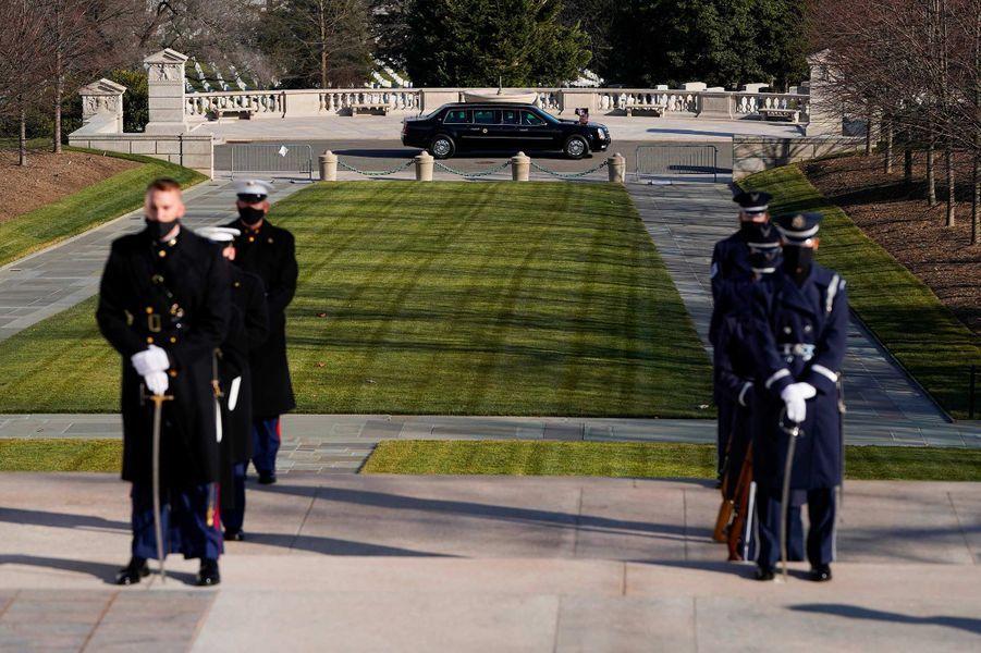 Au cimetière national d'Arlington, le 20 janvier 2021.