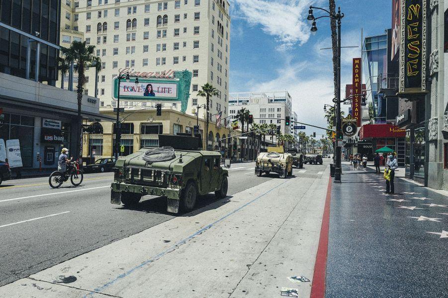 Photo prise à Hollywood Boulevard, le 1er juin.